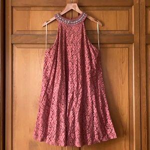 Lace Halter Dress
